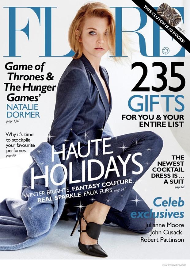 Натали Дормер в фотосессии Flare Magazine (декабрь 2014)