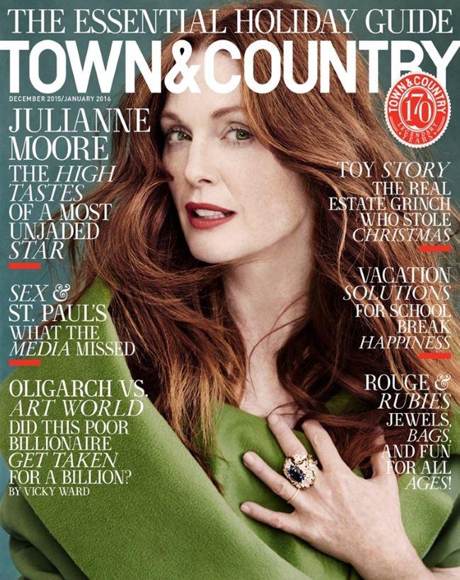 Джулианна Мур в фотосессии Town&Country (декабрь 2015)