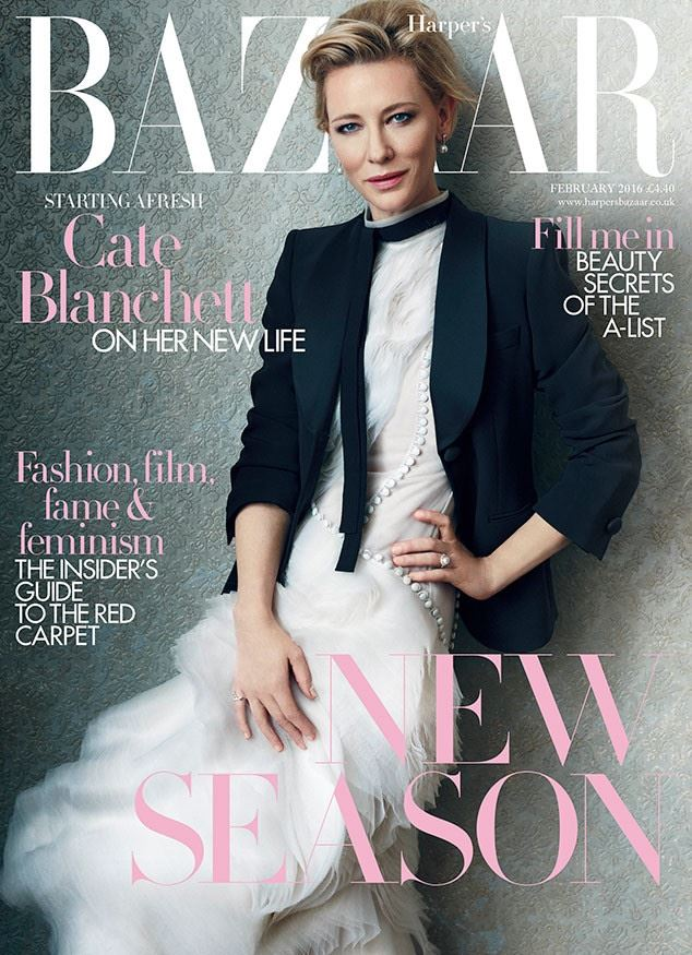 Кейт Бланшетт в фотосессии Harper's Bazaar UK (февраль 2016)