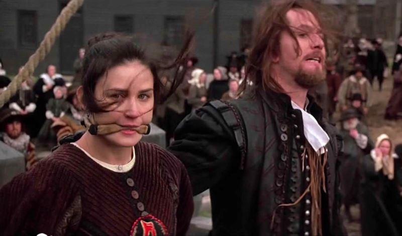 Фильмы с Деми Мур («Худшая актриса года») - «Алая буква» (1995)