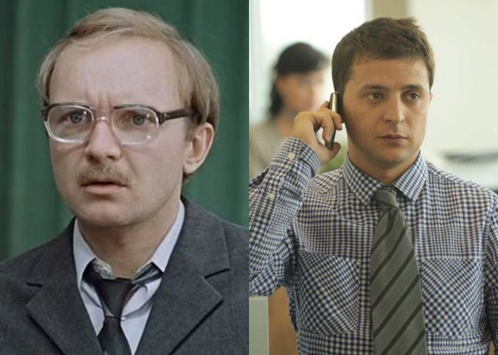 Актёры фильма «Служебный роман» 1977 и 2011 - Андрей Мягков и Владимир Зеленский