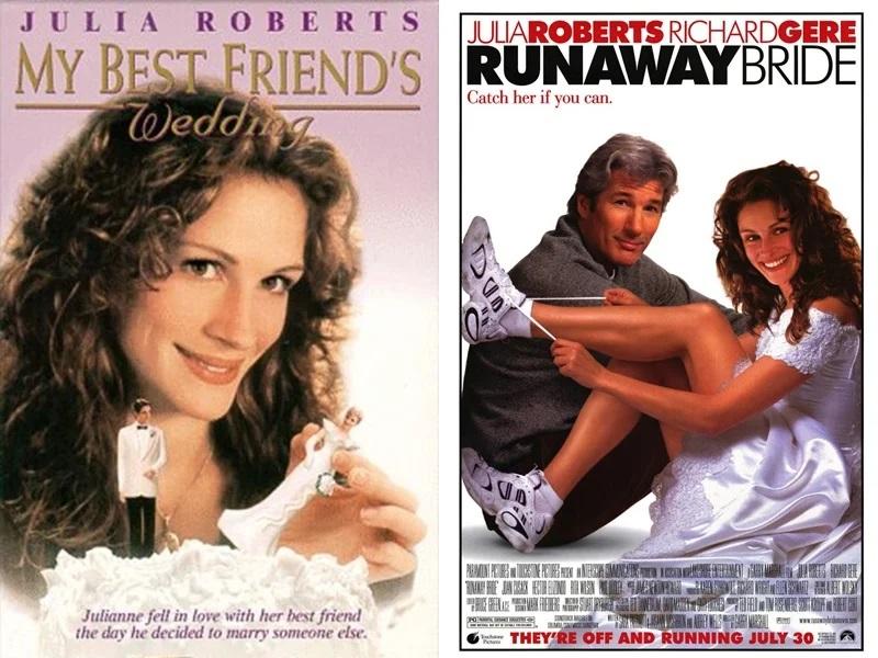 Джулия Робертс отказалась, Сандра Буллок снялась - «Свадьба лучшего друга» и «Сбежавшая невеста»