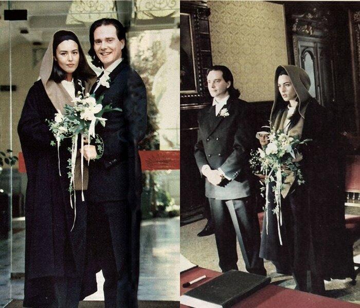 Клаудио Карлос Бассо, первый муж Моники Беллуччи - день свадьбы в Монте-Карло