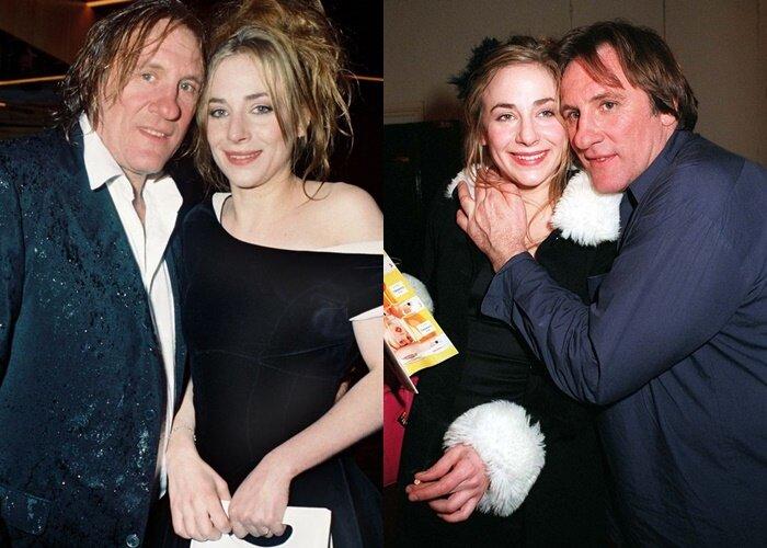 Дочери и внучка Жерара Депардье - Жюли с отцом