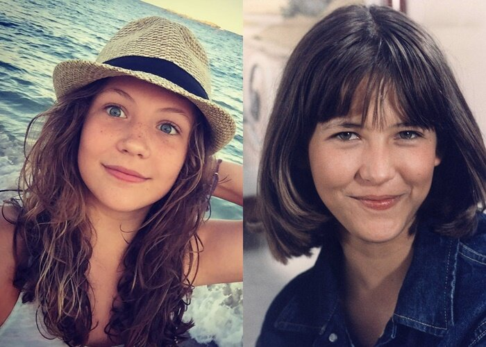 Жюльет Лемли дочь Софи Марсо - в 13-летнем возрасте
