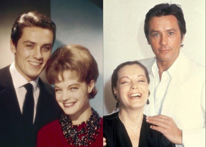 Ален Делон и Роми Шнайдер - (в 60-е и в 1981 году)