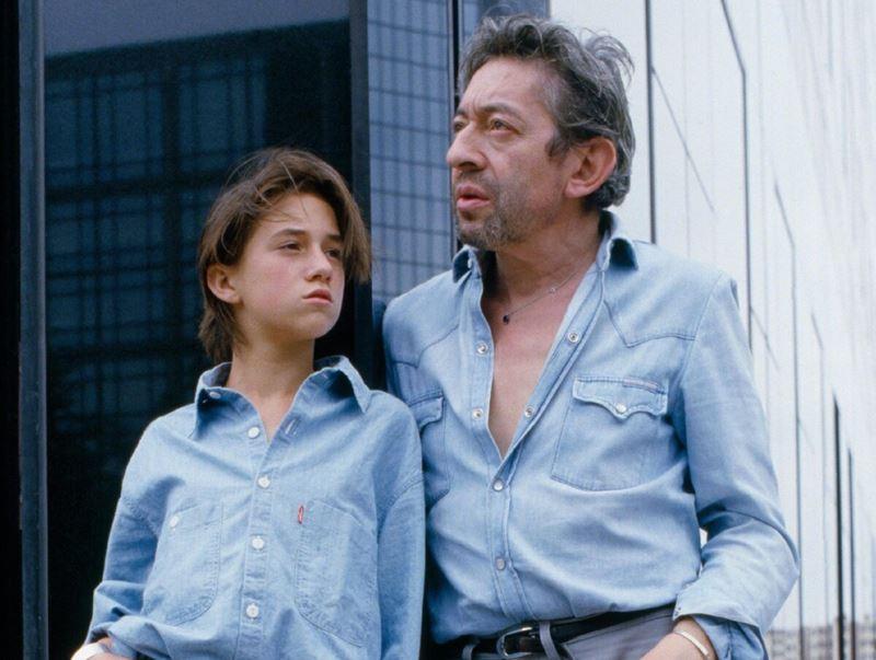 Джейн Биркин и Серж Генсбур - отцовство - Серж и Шарлотта Генсбур в 80-е