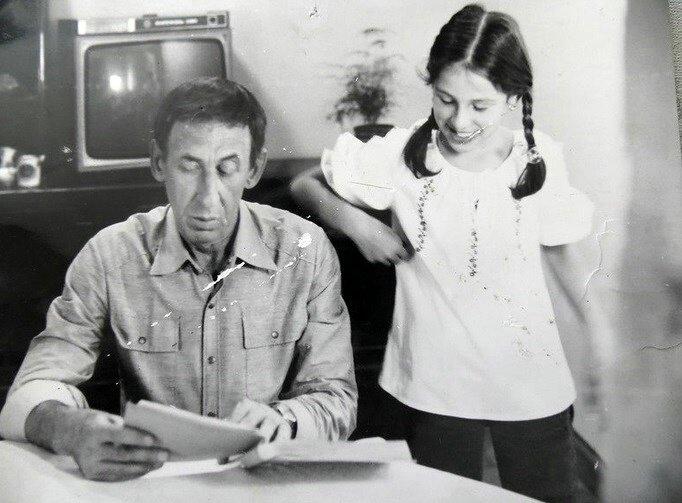 Елизавета - дочь Владимира Басова и Валентины Титовой - с отцом