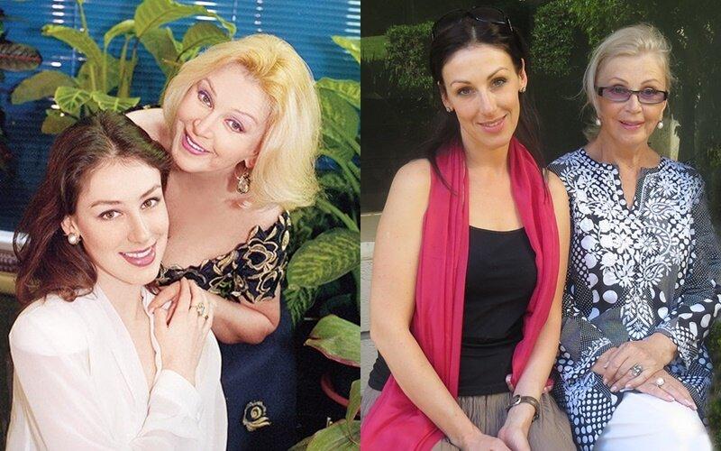 Елизавета - дочь Владимира Басова и Валентины Титовой - с мамой
