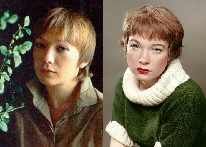 Советские актрисы, похожие на западных звёзд - Елена Коренева – Ширли МакЛейн