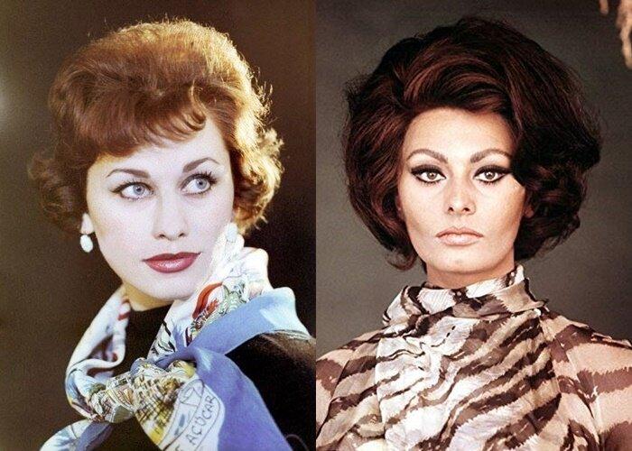 Советские актрисы, похожие на западных звёзд - Майя Менглет – Софи Лорен