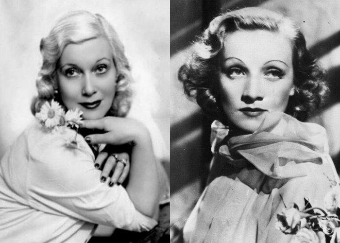 Советские актрисы, похожие на западных - Любовь Орлова и Марлет Дитрих