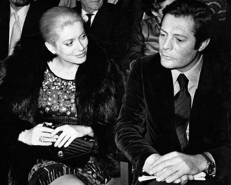 Цитаты Катрин Денёв о любви и Марчелло Мастроянни - на премьере в 1972