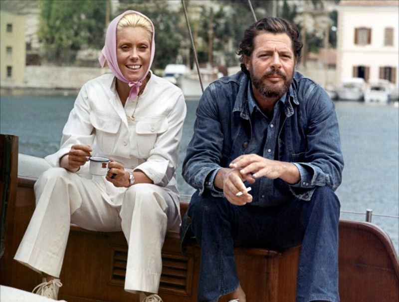 Цитаты Катрин Денёв о любви и Марчелло Мастроянни - на съёмках в 1972 году