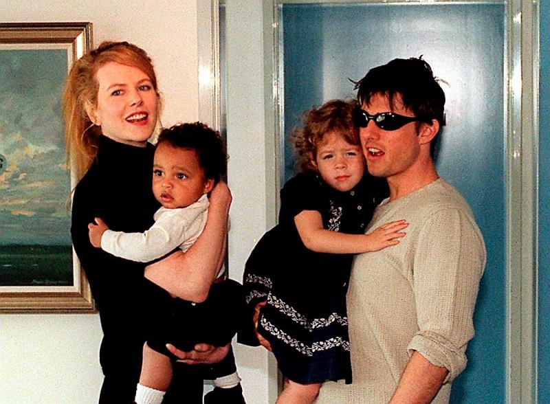 Приёмные дети Тома Круза и Николь Кидман - пара в 90-е годы