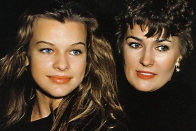 Советские актрисы, которые эмигрировали навсегда - Галина Логинова с дочерью Миллой Йовович