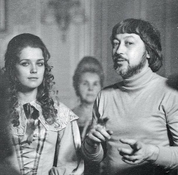 Ирина Алфёрова и Георгий Юнгвальд-Хилькевич на съёмках