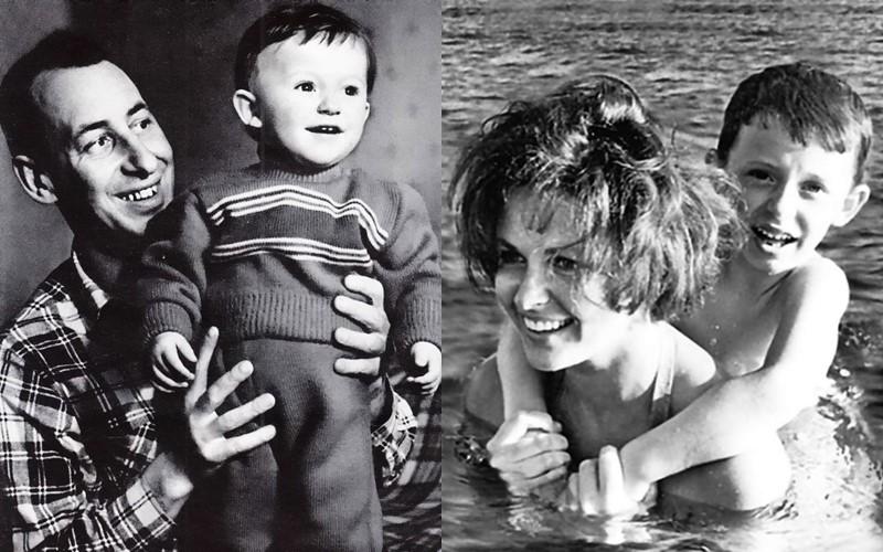 Сыновья Владимира Басова - Володя Басов-младший с родителями в детстве