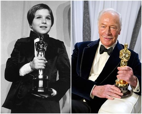 Татум О'Нил и Кристофер Пламмер на Оскаре