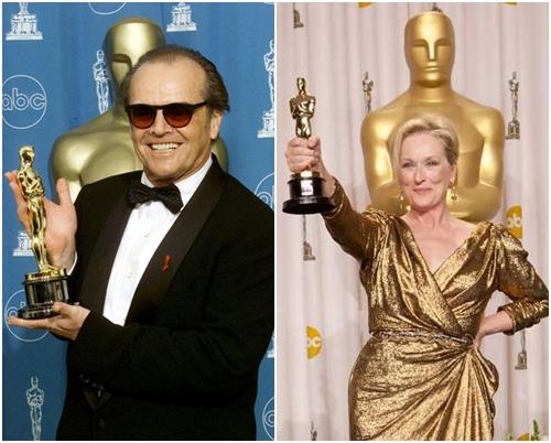 мерил стрип и джек николсон на Оскаре