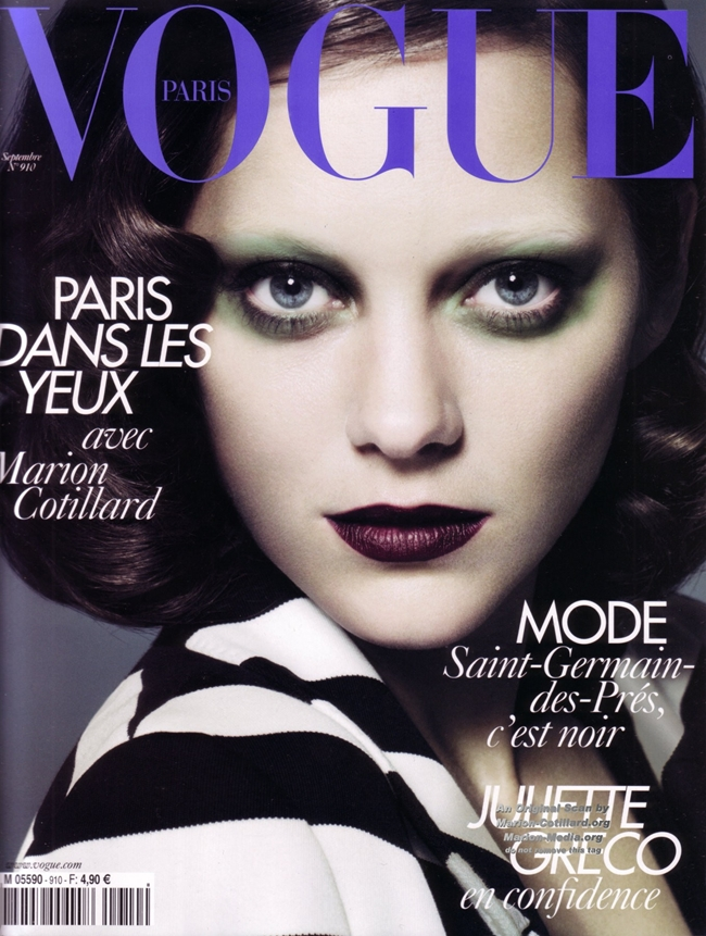 Марион Котийяр обложка  Vogue
