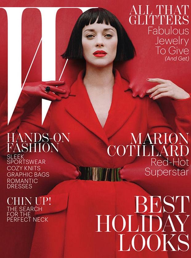 Марион Котийяр обложка  W Magazine