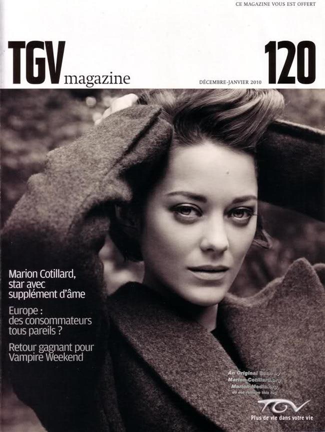 Марион Котийяр обложка  TGV Magazine
