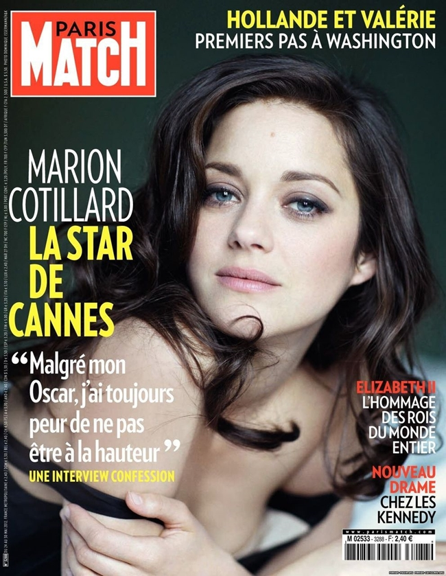Марион Котийяр обложка  Paris Match