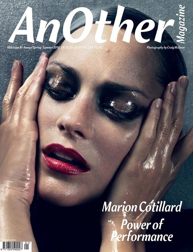 Марион Котийяр обложка  AnOther Magazine