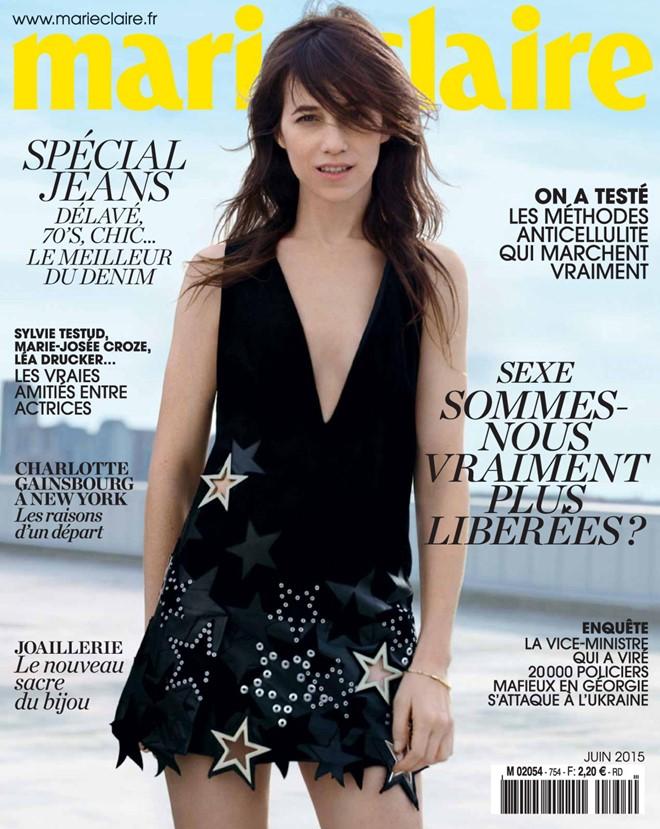 фотосессия Шарлотты Генсбур в Marie Claire France  (1)