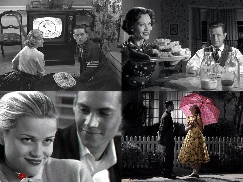 Стильные современные чёрно-белые фильмы: «Плезантвиль» (Pleasantville), 1998