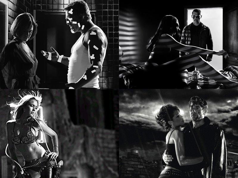 Стильные современные чёрно-белые фильмы: «Город грехов» (Sin City), 2005
