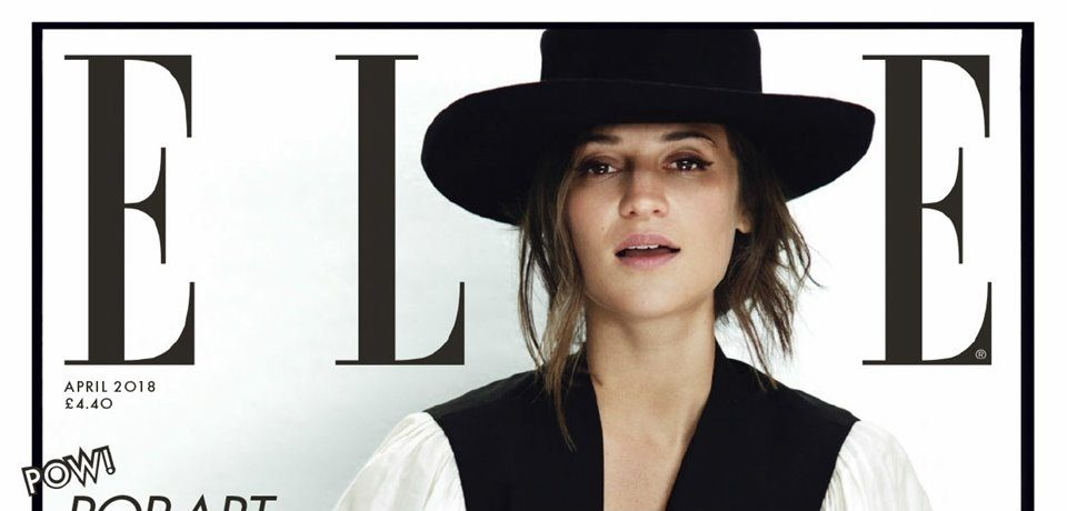Алисия Викандер в фотосессии Elle UK (апрель 2018)