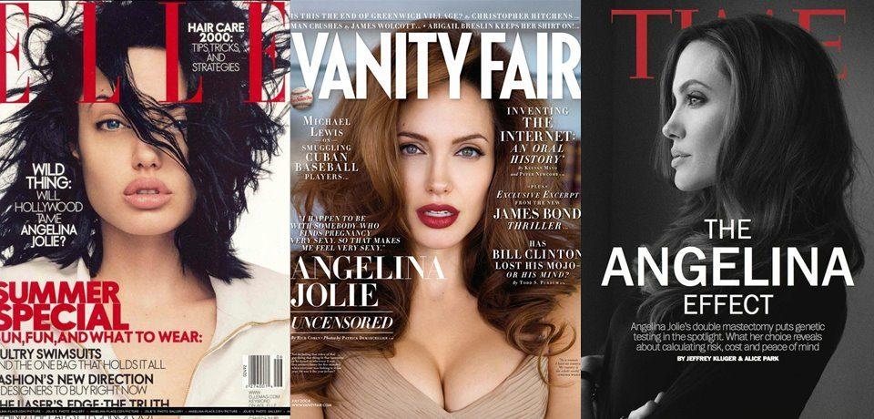 Анджелина Джоли тогда и сейчас: лучшие обложки