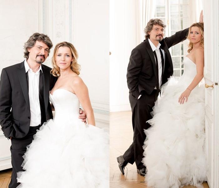 Актёры сериала «Элен и ребята» тогда и сейчас - Филипп Вассёр и Лора Гибер - свадьба
