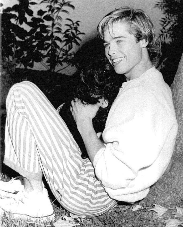 Молодой Брэд Питт - редкие чёрно-белые снимки 1987 года - фото 5