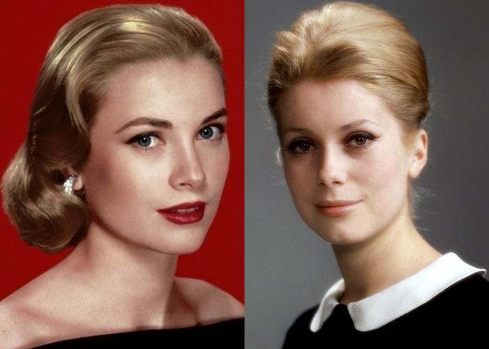 Актрисы, которых часто путают - Катрин Денёв и Грейс Келли
