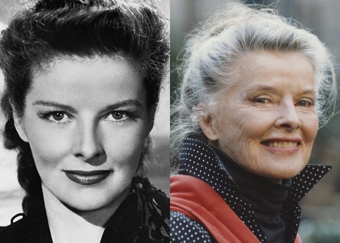 10 легендарных актрис Голливуда в молодости и старости - Кэтрин Хепбёрн
