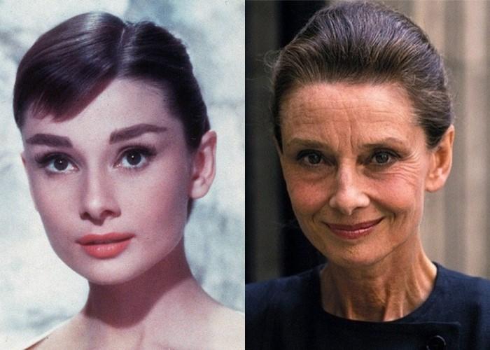 10 легендарных актрис Голливуда в молодости и старости - Одри Хёпберн